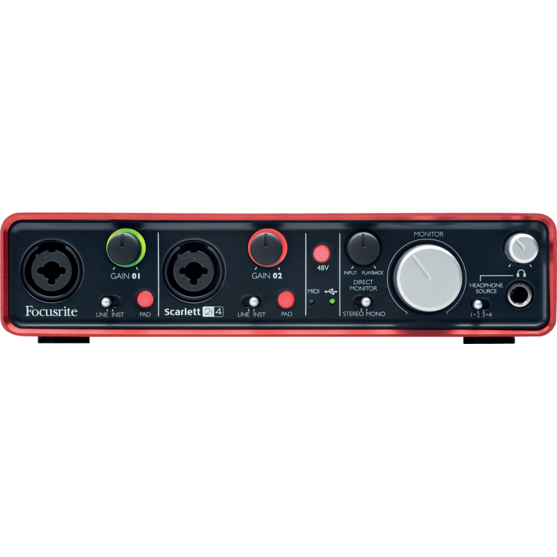 Focusrite Scarlett 2i4 - 2 in / 4 out