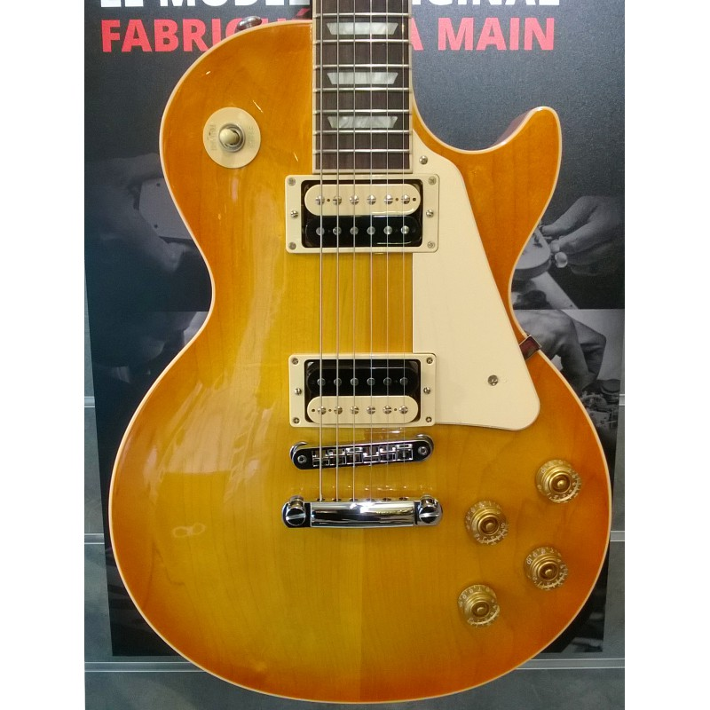 Gibson Les Paul Traditional Plain Top 2016 Zebra Plus Limited Lemon Burst