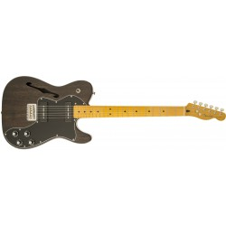 Fender Telecaster® Modern Player Thinline Deluxe Black Transparent