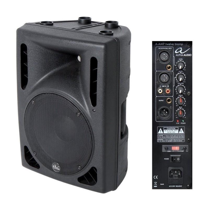 "Alpha Audio A-AMP Enceinte Active 12"" Biamp"