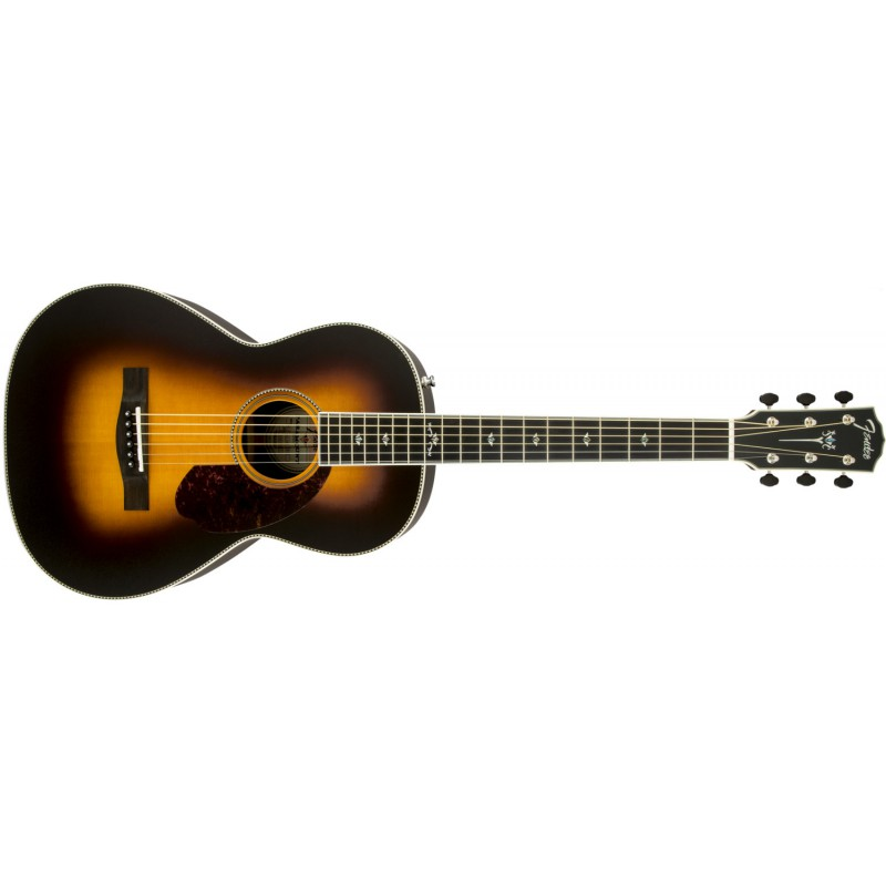 Fender PM-2 Deluxe Parlor Vintage Sunburst - Guitare électro-acoustique