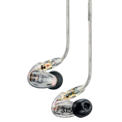 Shure SE315 Ecouteurs Haute déf. 1 voie translucide