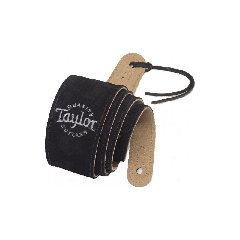 Taylor Suede Noir Logo Taylor 62001 - Sangle en Daim