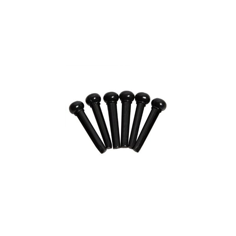 Taylor Chevilles 80120 Plastique Noir Chevalet x6