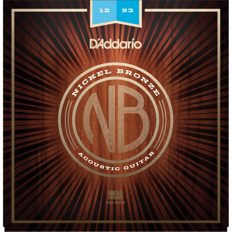 D'Addario NB1253 Nickel Bronze Light 12-53