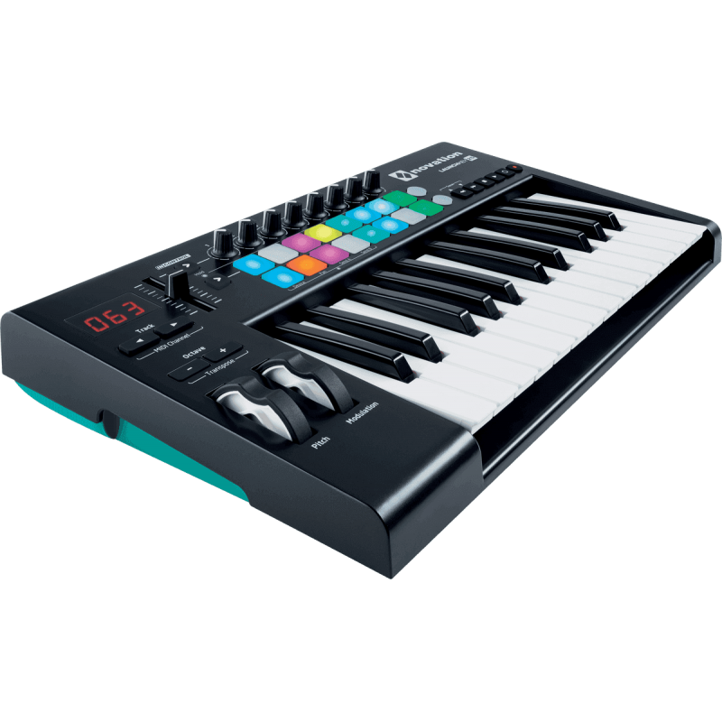 Novation LAUNCHKEY 25 MK2 - Clavier Grandes Touches 25 Notes, 16 Pads