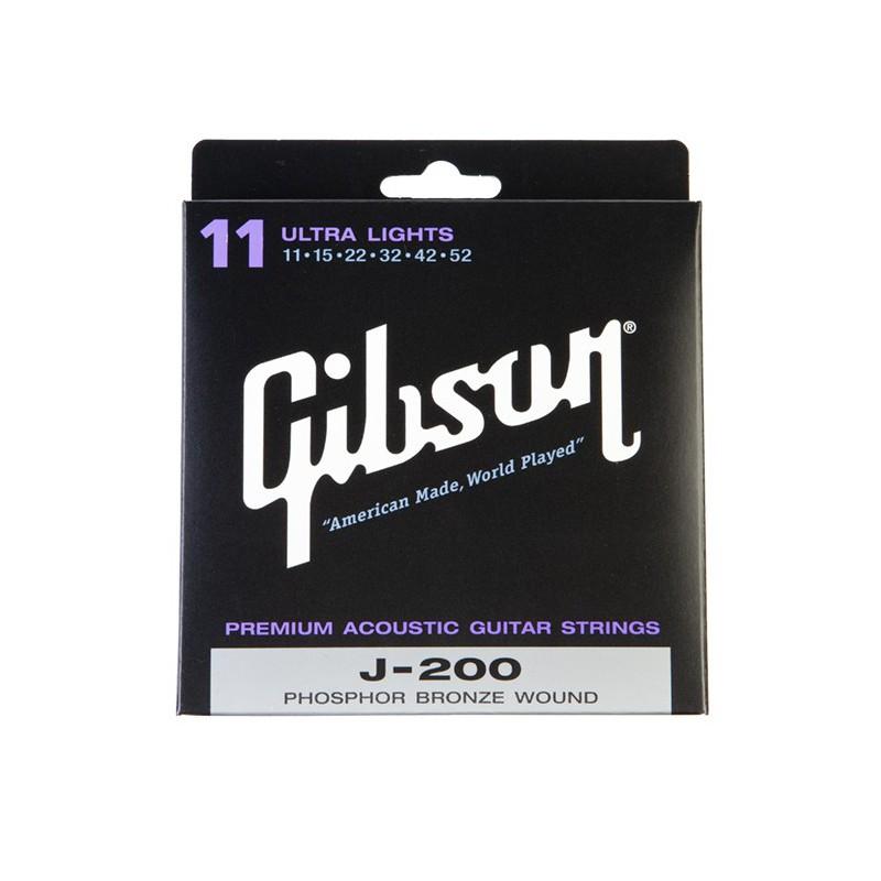 Gibson J-200UL Ultra Light 11-52 - Cordes Guitare acoustique