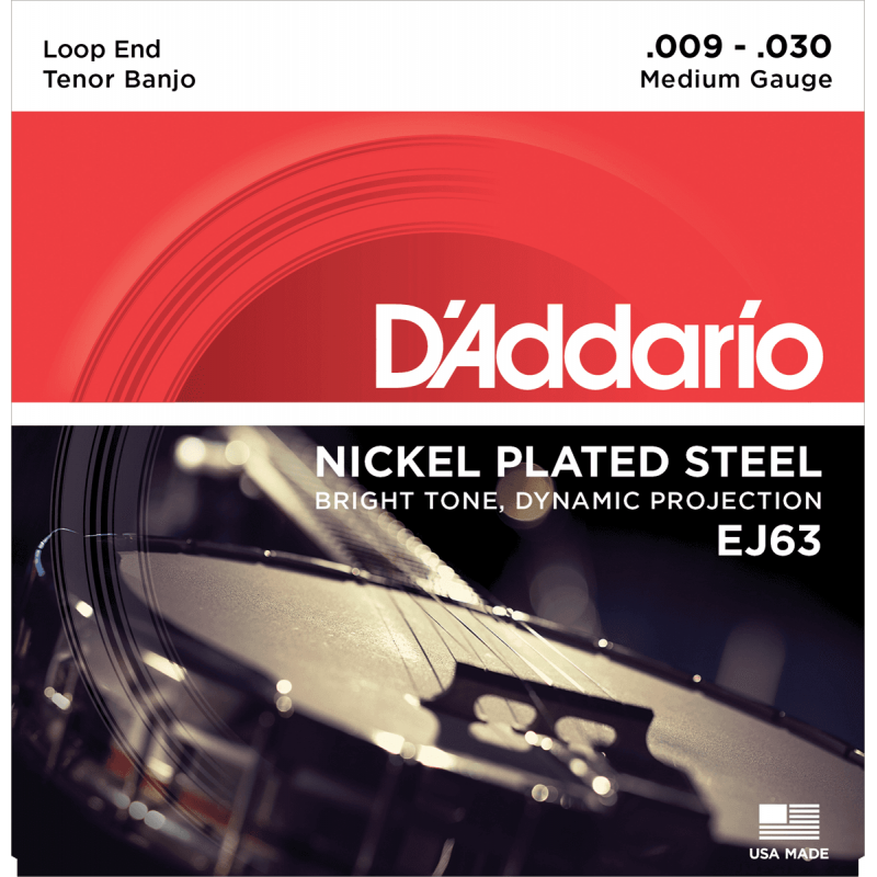 D'Addario EJ63 Light Tenor Plaqué Nickel 9-16-23-30