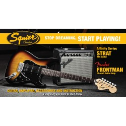 Squier Pack Affinity Series™ Strat® HSS + Frontman® 15G
