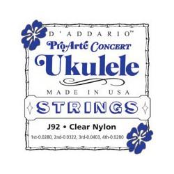 D'addario J92 Ukulele Pro Arte Concert Clear Nylon
