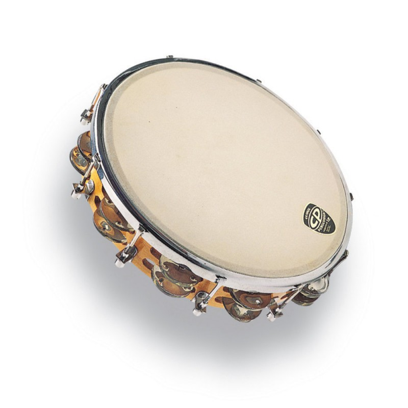"""Latin Percussion CP391 Tambourins 10 """" Accordable Bois"""