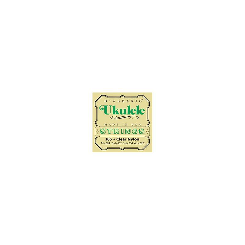 D'addario J65 Ukulele Clear Nylon