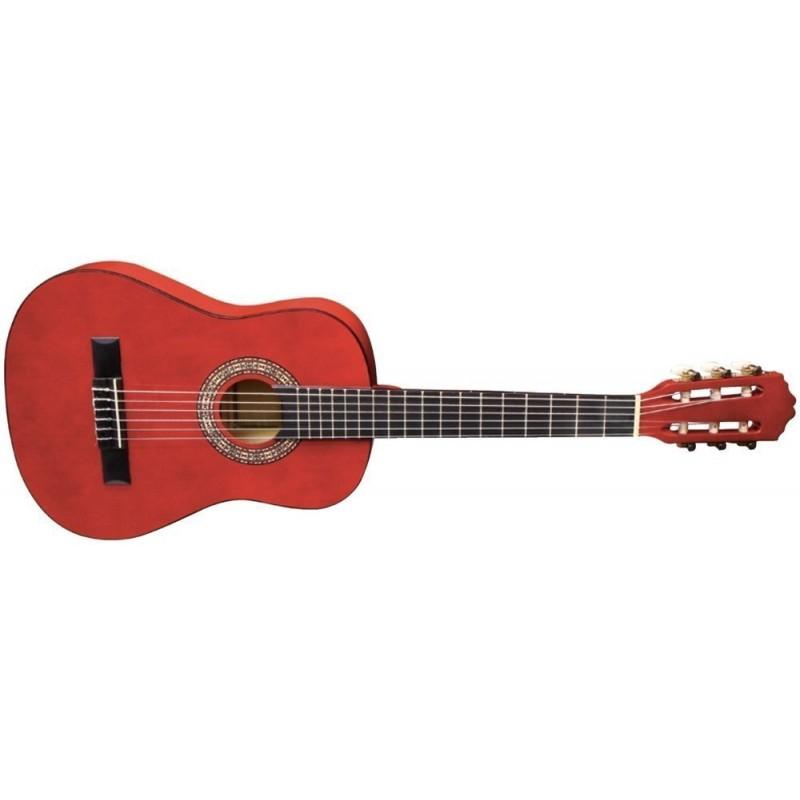 Almeria Classic 1/2 Rouge Transparent - Guitare Classique