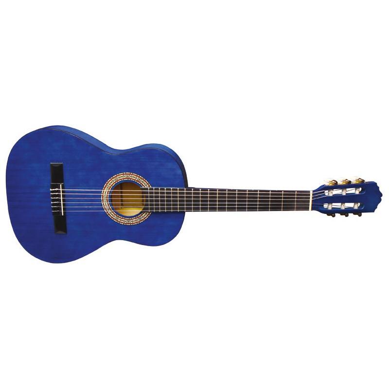 Almeria Classic 1/2 Bleu Transparent - Guitare Classique