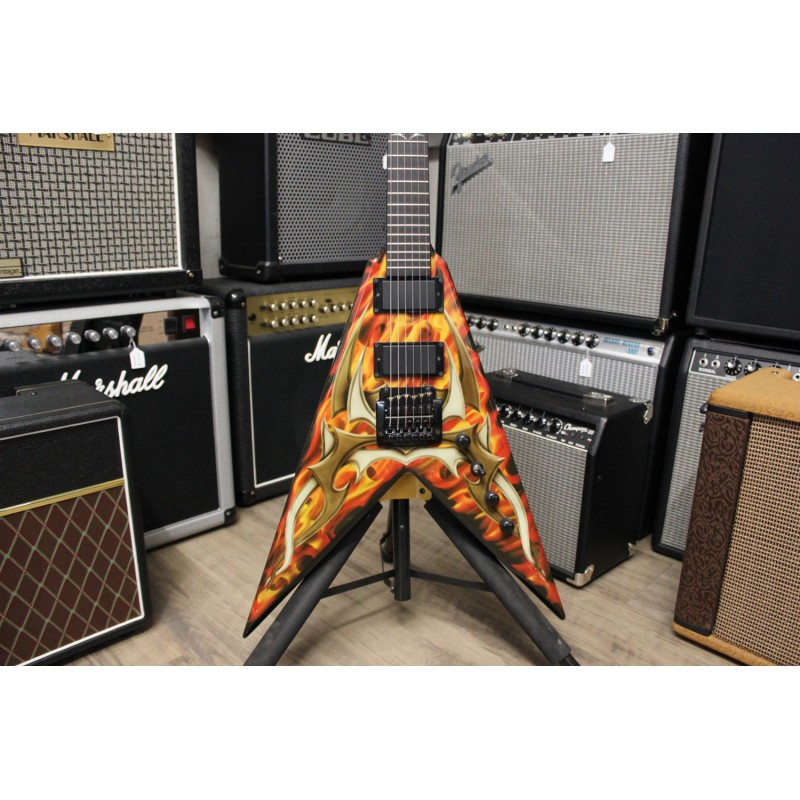 BC Rich Kerry King Signature V KK Flame - Occasion