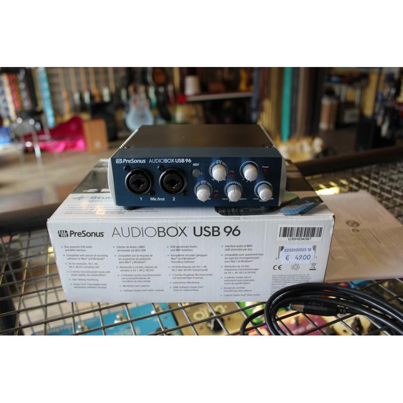 Presonus Audiobox 2x2 USB 24 bits / 96 kHz - Occasion