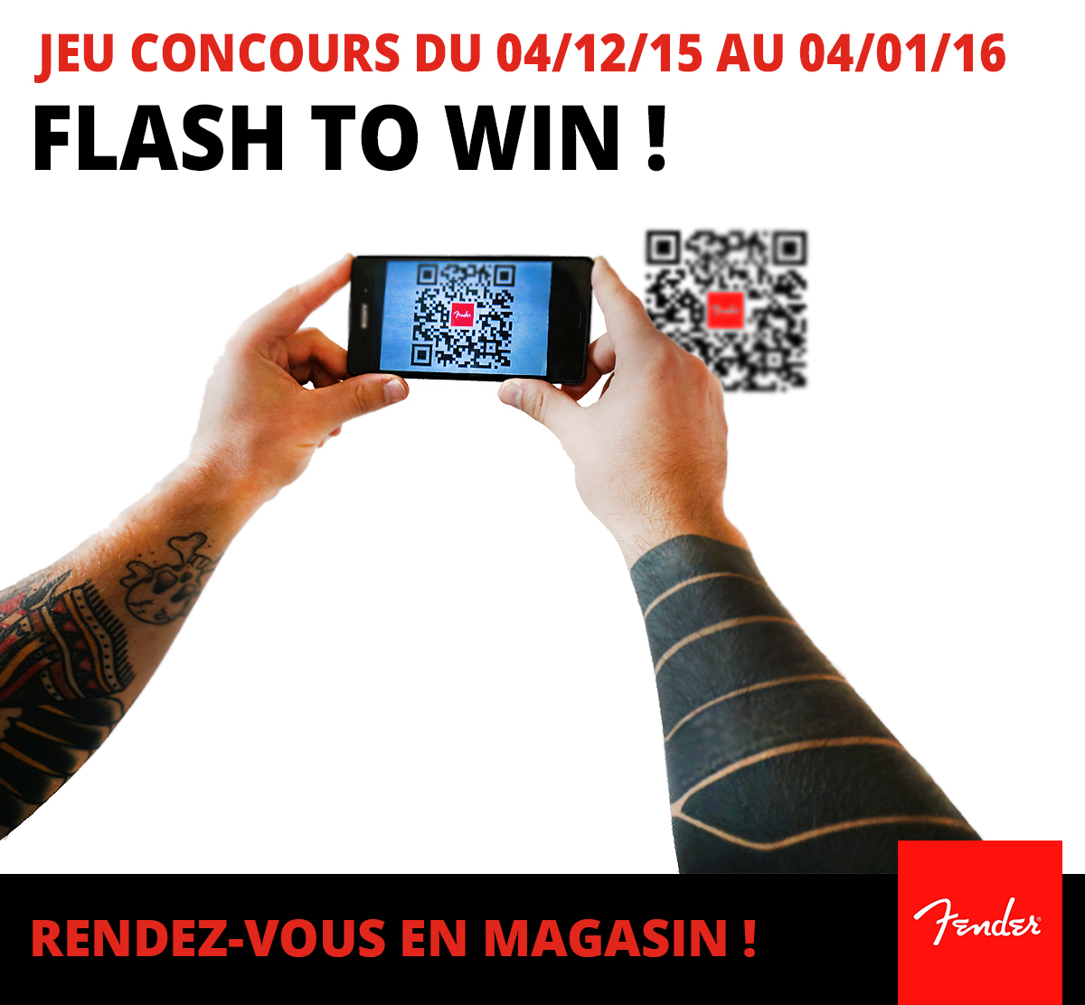 Fender Flash to Win Jeu Concours - Fallone Music