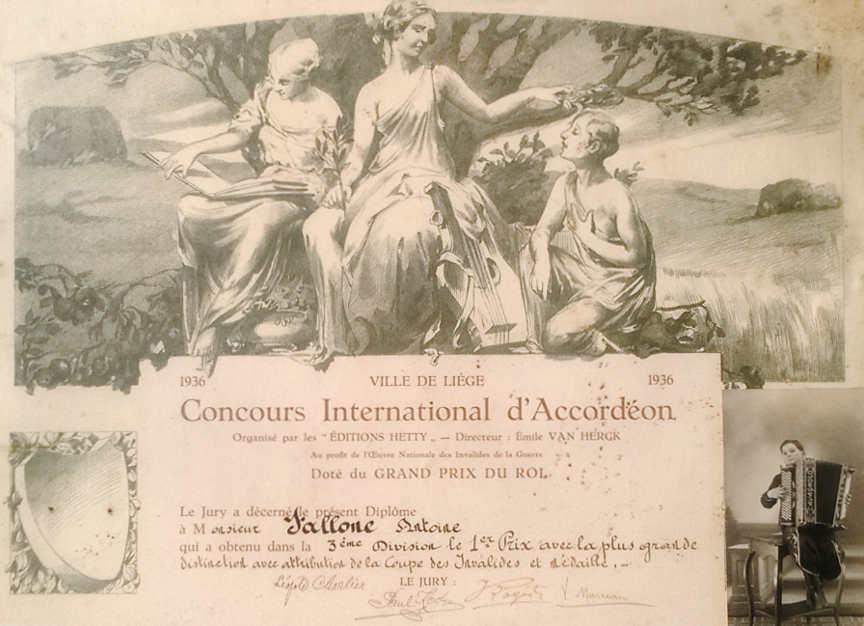 Concours International de la ville de Liège 1936 - Tony Fallone