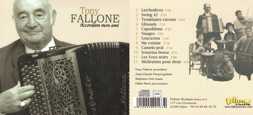 Tony Fallone - Accordéon Mon Ami - CD Audio Remaster