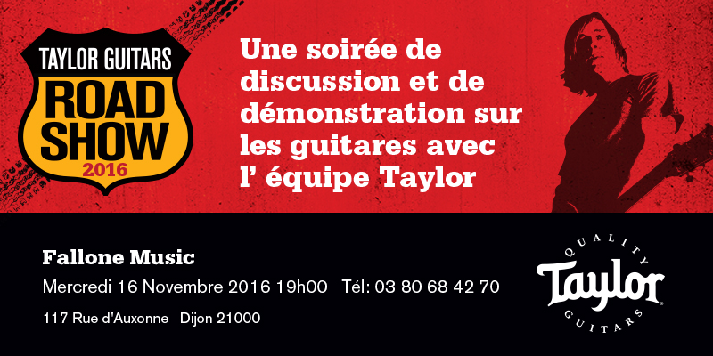 Taylor Guitars Road Show 2016